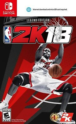 NBA 2K18 LEGEND Edition (Nintendo Switch) BRAND NEW & FACTORY SEALED 2018 18 nsw
