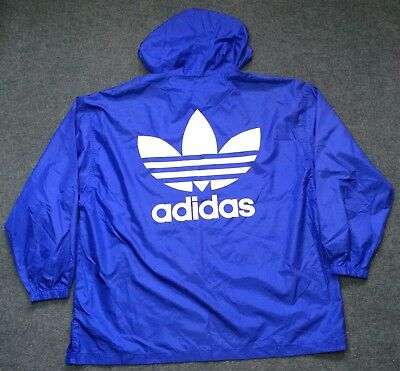 Vintage Adidas Sweater Hooded Hip Hop Blue Rare 80s 90s