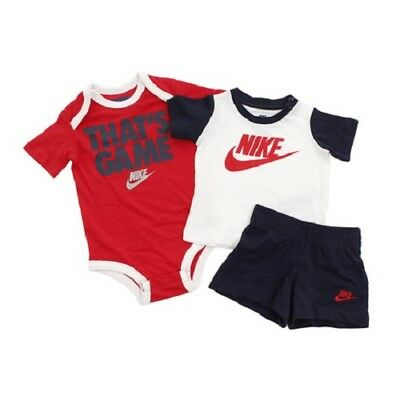 Nike Performance Baby 3 Teiliges Set Body Tshirt Short Gr 6-9, 9-12 Mon.
