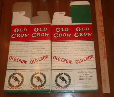 8 OLD CROW Kentucky Straight Bourbon Whiskey bottle boxes unused Frankfort KY