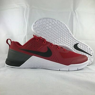 Nike Metcon 1 One Red Black White Training Shoes 704688-616 Men's 11.5-13