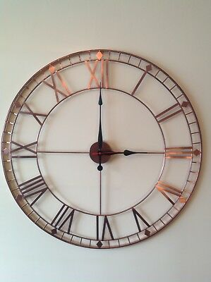 Stunning Copper Extra Large Metal Wall Clock Antique Vintage