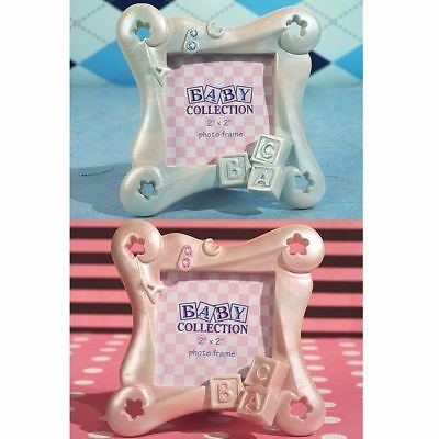 6 ABC Baby Block Picture Photo Frame Baby Showers Christening Favors Gifts