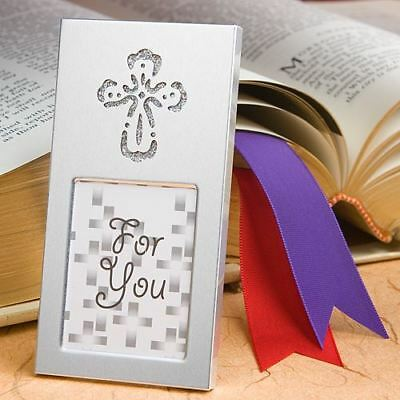 6 Shining Cross Picture Photo Frame Baby Showers Christening Favors Gifts