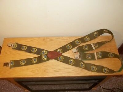 Vtg Department Of The Army Men's Green Suspenders
