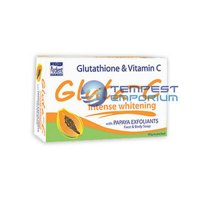 Gluta C Intense Whitening with Papaya Exfoliants Face & Body Soap 60g