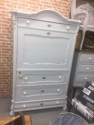 Antique Pine Victorian French Wardrobe Vintage.Furniture Showroom Whitstable