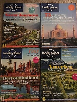4 Lonely Planet magazines