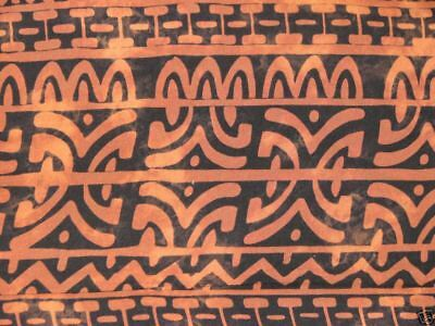 Unisex Primitive Brown and Black Celtic Chain Rayon Sarong HVY Weight FREE SHIP