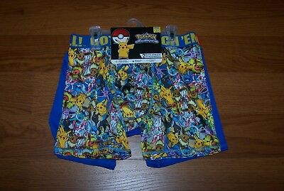 Size (10) Boys Athletic Boxer Briefs 2-Pk Pokemon Picachu