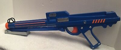 Star Wars Clone Trooper Blaster NERF Dart Gun 2006 Rare Blue Blaster Laser Child