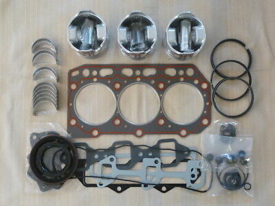Yanmar 3TNE84 Overhaul Kit / Pistons, Rings, Bearings, Gasket Set
