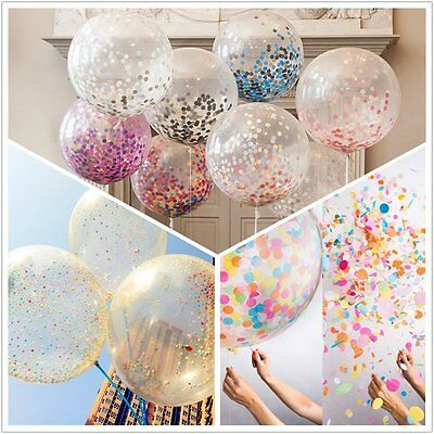 "20x12"" Colorful Confetti Balloon Birthday Wedding Party Latex Helium Balloons"