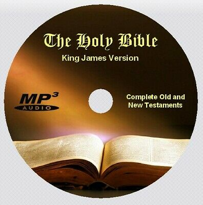 KING JAMES VERSION Bible Complete Old & New Testaments, Audio Book 1 MP3 CD