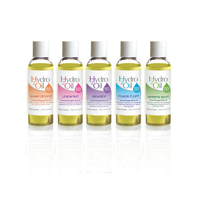 Massage Oil 5 pack - 125ml Hydro 2 Oil Massage Oils**FREE SHIPPING**