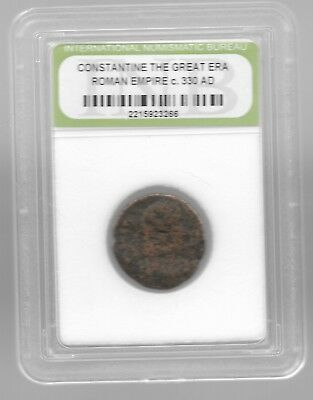 Rare Old Ancient Antique CONSTANTINE GREAT Roman Empire War Collection Coin AB53