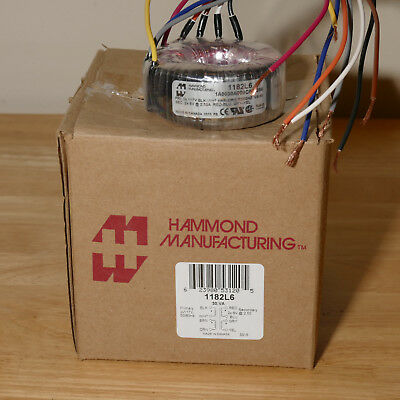 Hammond 1182L6 Toroidal Transformer 12V CT or 6V - 0 - 6V 30VA
