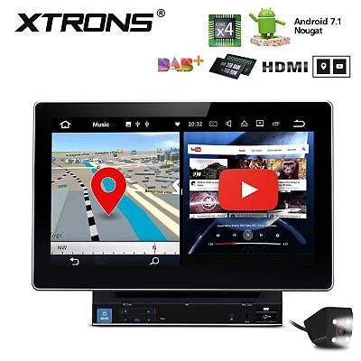 """10.1"""" Quad-Core Android 7.1 Double 2Din Car Stereo DVD GPS Navi OBD2 HDMI 4G DAB"""