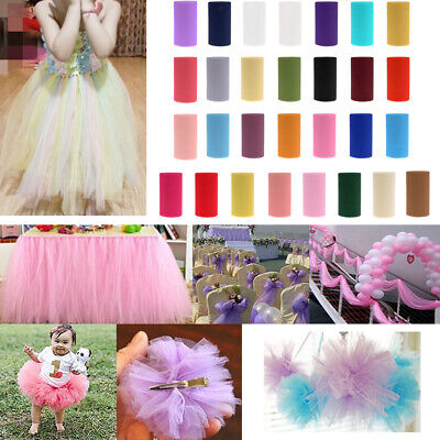 15cmx50Yd Multi Colors Tulle Fabric Roll Spool Wedding Bow Party Tutu Gift Craft