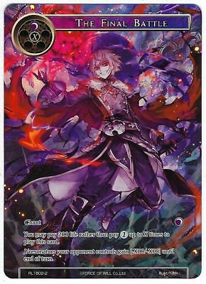 Force of Will 1x The Final Battle Full Art NM RL-1802-2 FOW