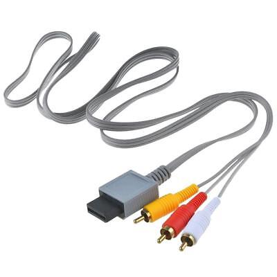 Audio Video AV Composite 3RCA TV Cable Cord Lead for Wii Console  New.