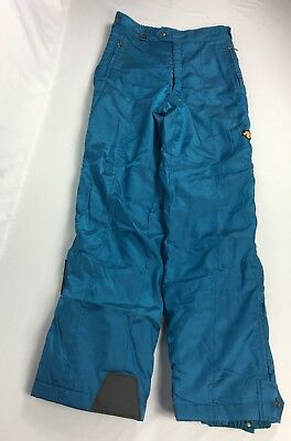 Descente Men's Snow/Ski Pants Turquoise Size 34 Full Zippered Sides