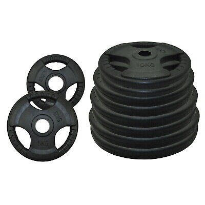 Total 80kg Olympic Rubber Coated Weight Plate Set - Commercial Grade Plate