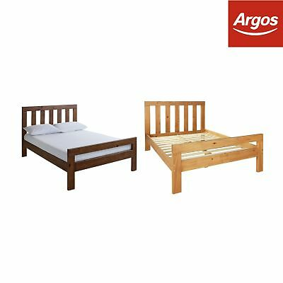 Argos Home Chile Solid Wooden Bed Frame - Choice of Size and Colour