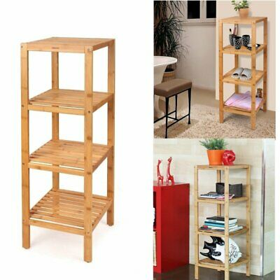 Bamboo Wooden Kitchen Bath Bathroom Shelf Rack Organiser Storage Stand Display