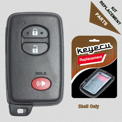 Smart Remote Key Case Shell 3 Button for Toyota Prius Land Cruiser 2008-2016