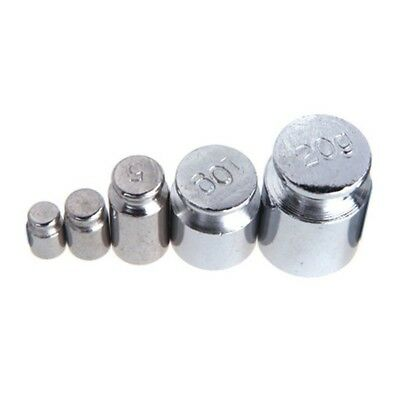 Weight 1g 2g 5g 10g 20g Chrome Plating Calibration Gram Scale Weight Set fo W8R0