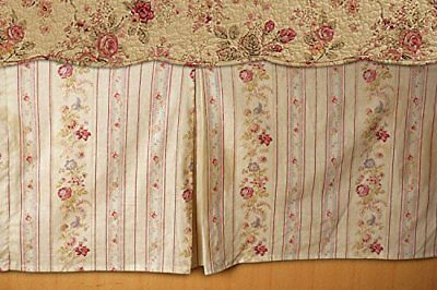 Greenland Home Antique rose Bed Skirt, Queen (i1v)