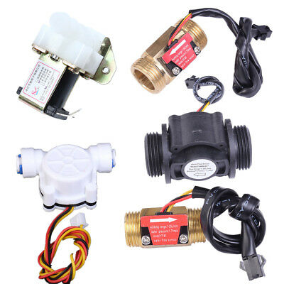 "G1/2"" G1/4"" G3/4"" 1in Water Flow Hall Sensor Switch PE Pipe Flow meter Counter"