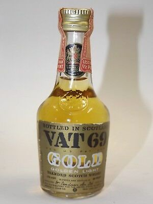VAT 69 Gold Blended Whisky 86 proof miniature mini bottle flasche Very Rare