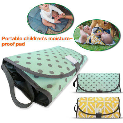 3-in-1 Baby Nappy Diaper Bag Changing Change Clutch Mat Foldable Pad Handbag
