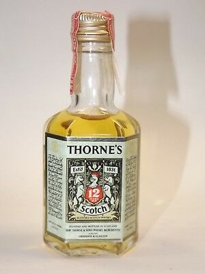 THORNES Blended Whisky 86,8  proof miniature mini bottle flasche Very Rare