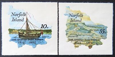 1975 Norfolk Island Stamps - 150th Anniversary Second Settlement - Set of 2 MNH