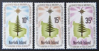1975 Norfolk Island Stamps - Christmas - Set of 3 MNH