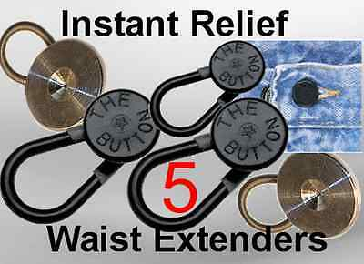 5 Waist Expanders Waist Extender Buttons forJeans Pants Skirts, Shorts Men Women