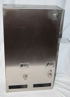 Used Bobrick Feminine Hygiene Tampon Napkin Dispenser #1 Coin Operated Or Free