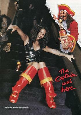 Captain Morgan The Captain Was Here Magazine Page Print Ad Sexy Red Pirate Boots