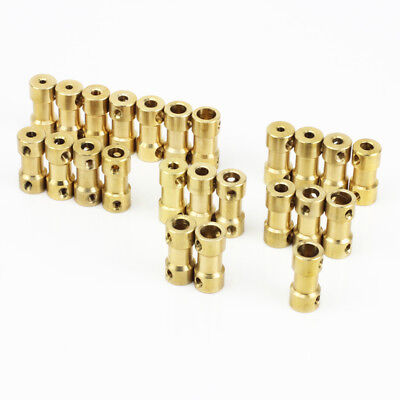 Brass Universal 2 2.3mm 3 3.17 4 5 6mm Shaft Coupling fr RC Model Truck Car Boat