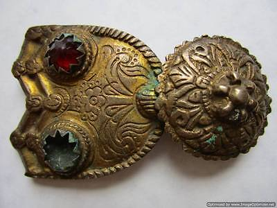 Turkey Ottoman Empire - rare gilded silver buckle late 18th, early 19th century!