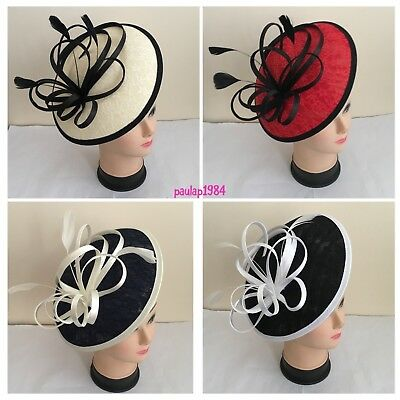 Large Headband and Clip Fascinator Weddings Ladies Day Race Royal Ascot