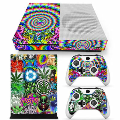 Xbox One S Console, Controller and Kinect Skin Set XOS Weed 420