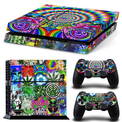 PS4 Skin & Controllers Skin Vinyl Sticker For PlayStation 4 Weed 420