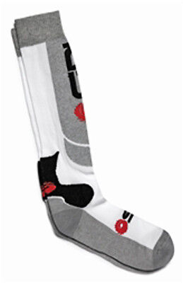 Sidi Technical Calza Motocross Motorbike MX Socks - White/Grey Single Pair