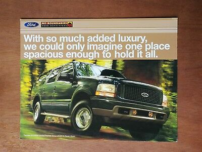1998 Ford Excursion Full Color Sales Brochure