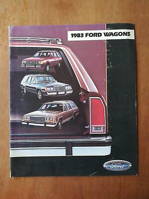 1983 Ford Station Wagons Full Color Sales Brochure