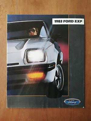 1983 Ford EXP Sales Brochure - 15 Pages